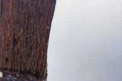 Enduit plâtre et chaux blanc aspect du grain