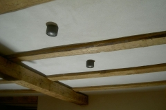 plafond plâtre rustique