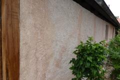 Béton de chanvre sur mur plein