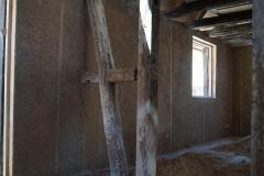 béton de chanvre projeté par l'intérieur